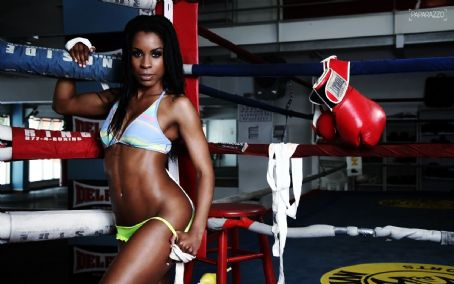 ufc mma ring girl model chandella powell photoshoot picture image pic img