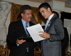 El Presidente de la Republica Dr. Leonel Fernández y Camilo Then
