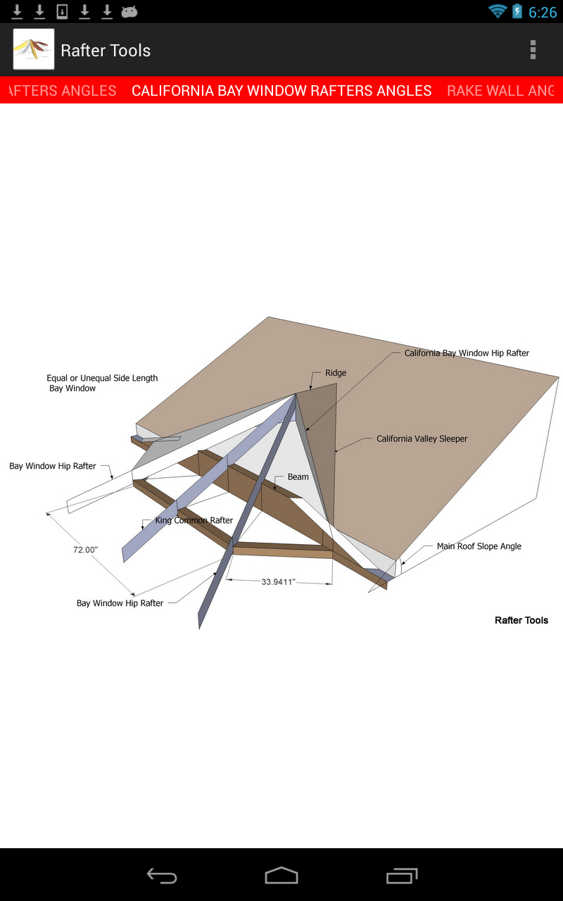 Roof Framing Geometry Rafter Tools For Android Version 2 57