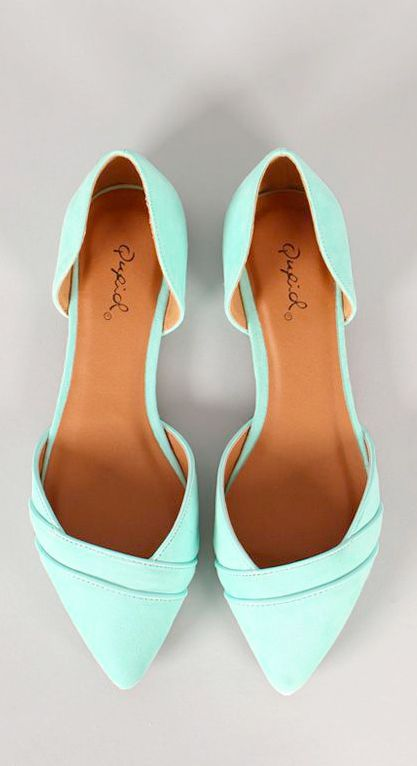 Fashionable Mint Ballet Flat Shoes
