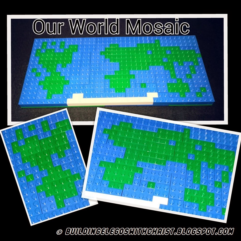 Building legos with christ our world lego mosaic map world map lego mosaic gumiabroncs Images