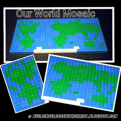 LEGO Mosaic Map, Homeschooling with LEGOS