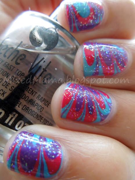 mixedmama purple blue hot pink