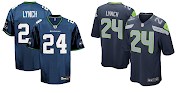 A comparison between the boring Old Seahawks Jersey (Left) and the New .