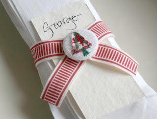 Enfeites natalinos para guardanapos e talheres
