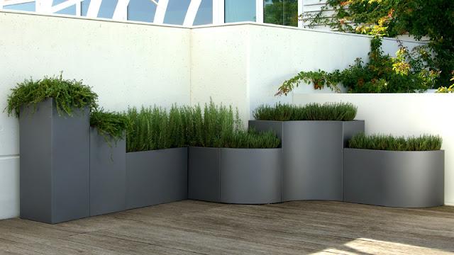 El muro vegetal jardineras modulares for Tipos de jardineras
