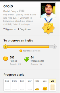 Duolingo - Estadisticas e información del usuario