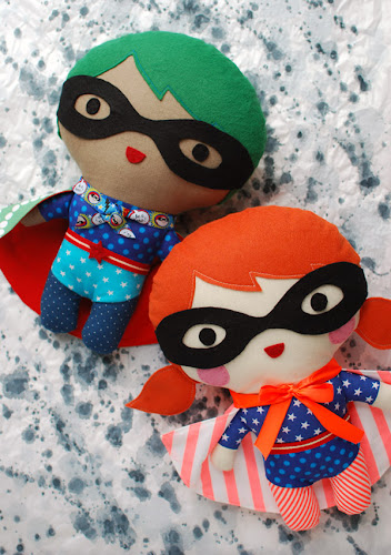 http://crafts.tutsplus.com/tutorials/create-your-own-superhero-soft-toy--craft-17660