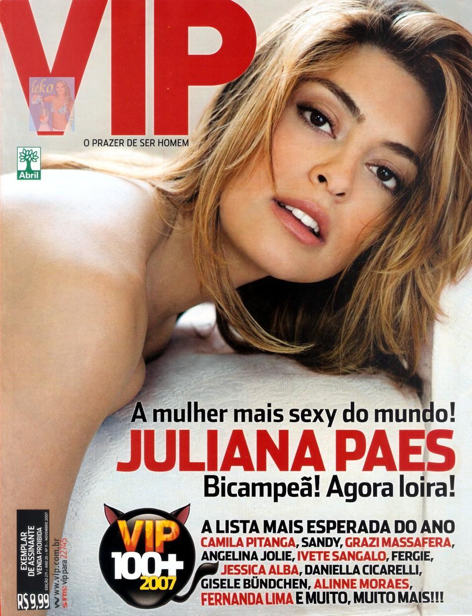 Juliana Paes Revista Vip Novembro A Garota Mais Gostosa Do Mundo
