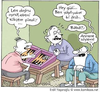 tavla karikatür