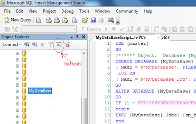 Create full database from script in sql server example
