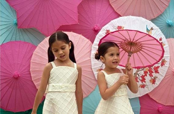 Photo Booth paper umbrellas