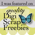 I was featured on Quality DigiScrap Freebies
