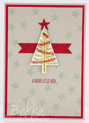 Make in a Moment Christmas Tree Featuring the Festival Of Trees Stamp Set from Stampin' Up! UK