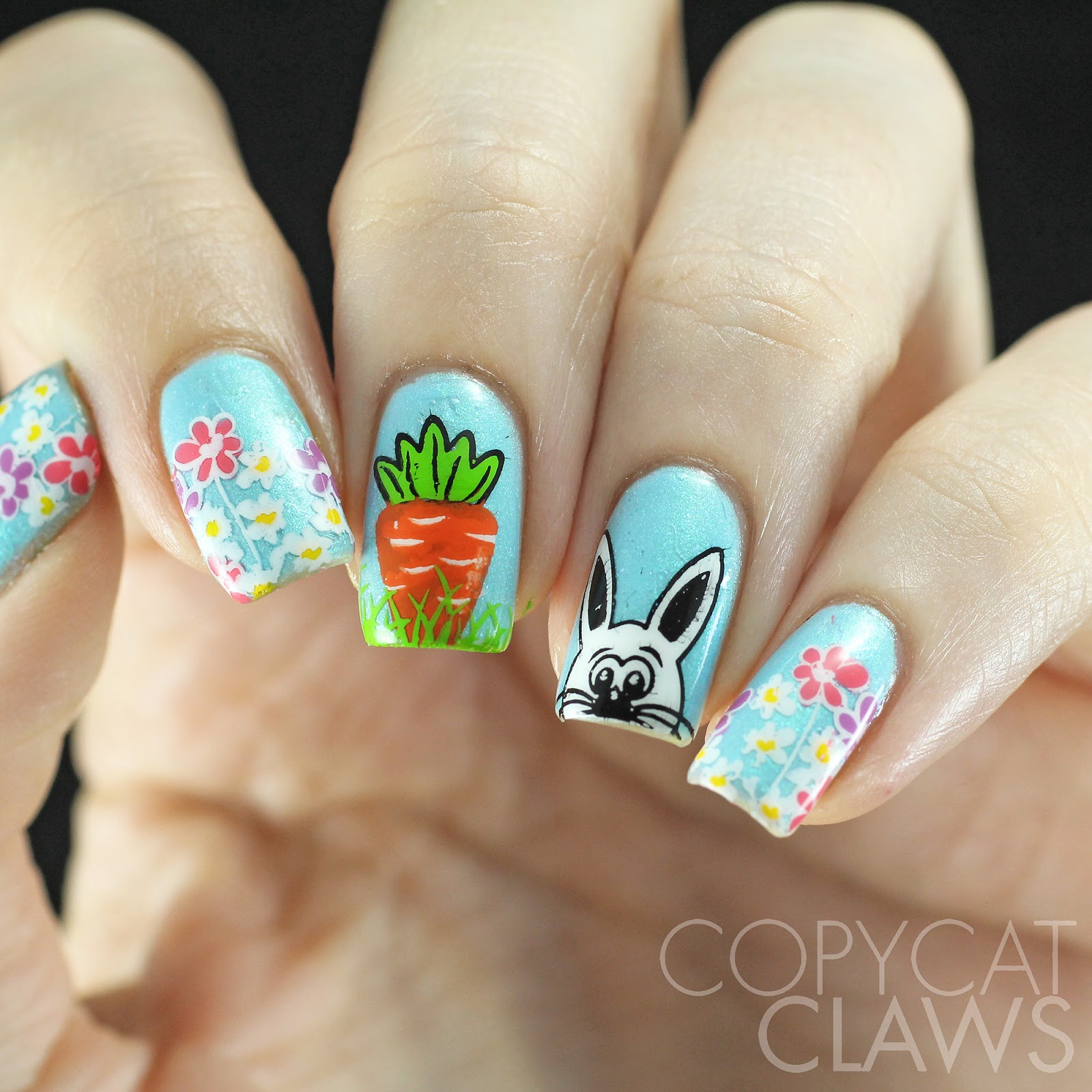 Easter Bunny Nails: Copycat Claws: Sunday Stamping