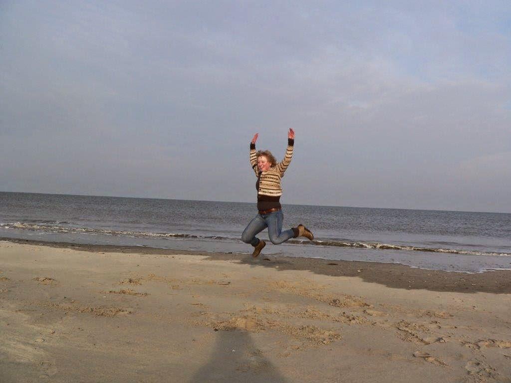 Wochenende Winter Urlaub Insel Meer Strand Sand Springen Aussicht
