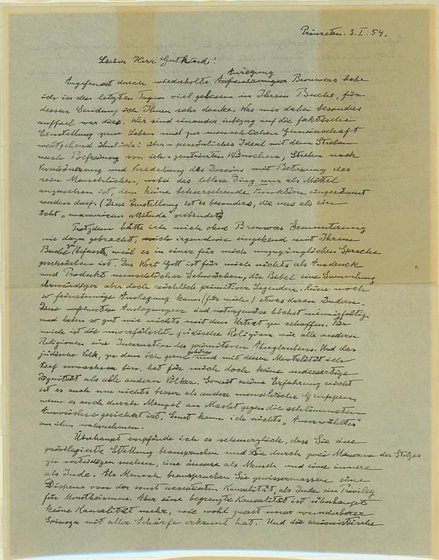 """Επιστολή του Αϊνστάιν """"αποκαλύπτει"""" τις απόψεις του για το θεό"""