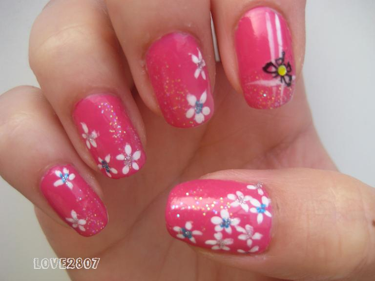 Summer nail art pink the pink popular summer nail desings nails view images nailove nail art design hot prinsesfo Gallery