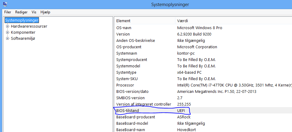 how to know if windows is in uefi mode