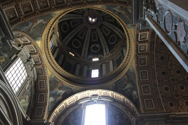 The beautiful structure with mosaics decoration in St Peter's Basilica in Vatican City, Rome, Italy