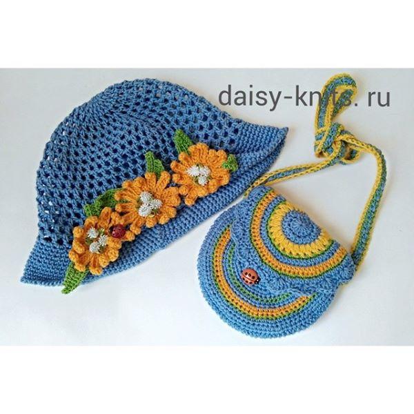 Сумочка и шапочка для девочки крючком