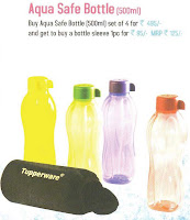 Tupperware water bottles 500ml with sleeve