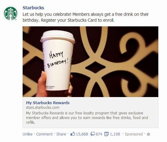 Josies Smitty Deals Starbucks Register Gift Card for Free Bday Drink
