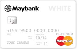 Hasil gambar untuk Maybank White Card Mastercard Platinum