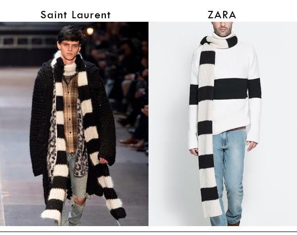 bufanda, zara, saint laurent, clones, otoño invierno