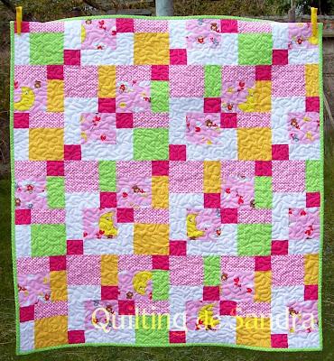 """Quilt """"Cielo en rosa"""" - disappearing 9 patch -parche de 9 que desaparece"""
