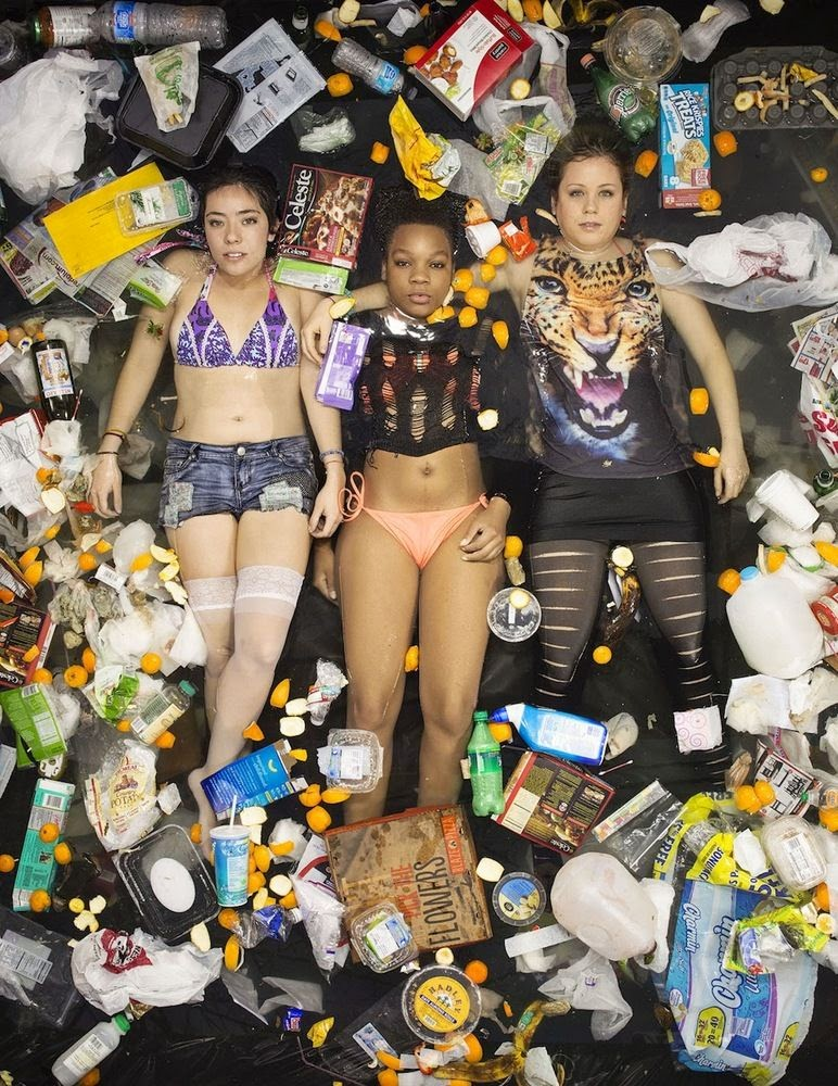 Photographer Gregg Segal Shows How Much Trash Americans Consume In One Week