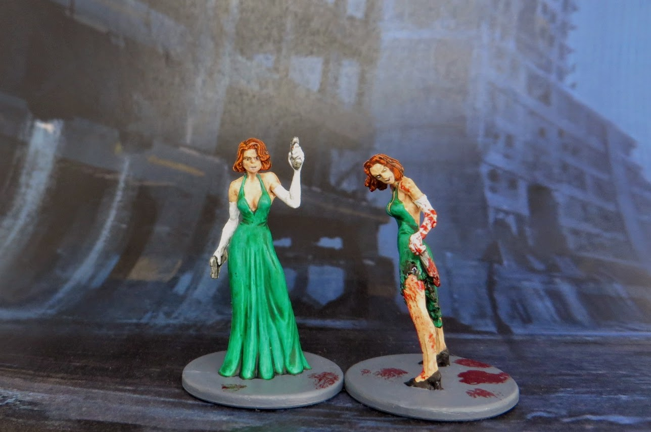 Thaissa, entrepreneur, zombicide, promo, kickstarter, exclusive, painted, survivor, zombivore, zombie, killer, female