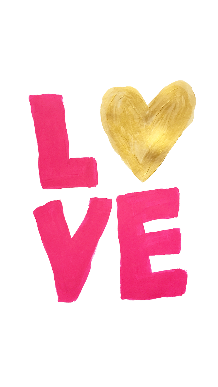 "La Petite Fashionista: ""LOVE"" Painted Valentine's Day Phone Wallpaper & Printable"