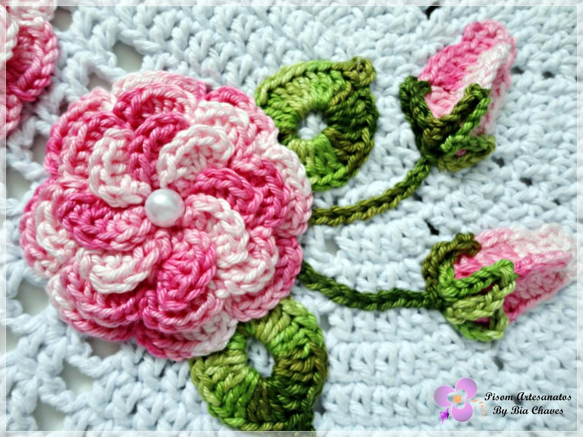 Pisom Artesanatos By Bia Chaves: Jogo de Banheiro Rosa Decore #8D182E 1200x900 Banheiro Branco E Rosa
