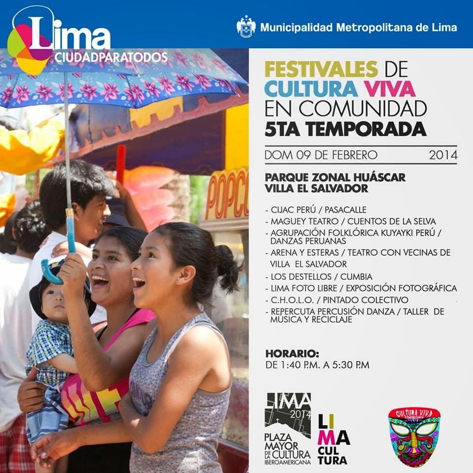 FESTIVALES DE CULTURA VIVA 2014