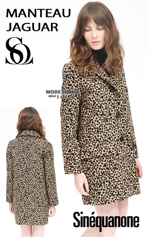 Manteau motif léopard Sinequanone
