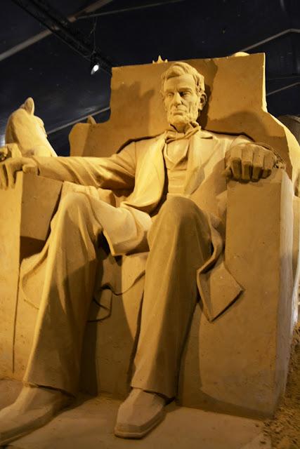 Sandwonderland Blankenberge Abraham Lincoln