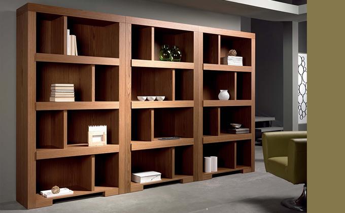 Azul blue librer as y libros i - Librerias estanterias modernas ...