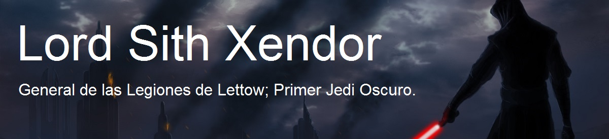 Lord Sith Xendor