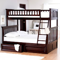 bunk beds mahogany