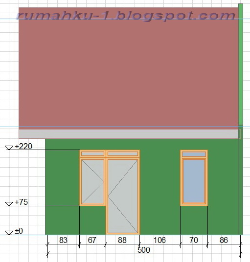 rumahku 1 gambar ukuran rumah minimalis tipe 36 108