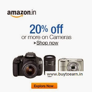 (LAST DAY)Amazon: Cameras 20% off or more from Rs. 3849 + 10% cash back with SBI Card