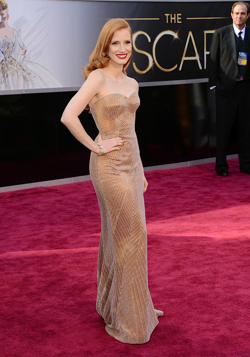Celeb Diary: Jessica Chastain @ The Oscars 2013