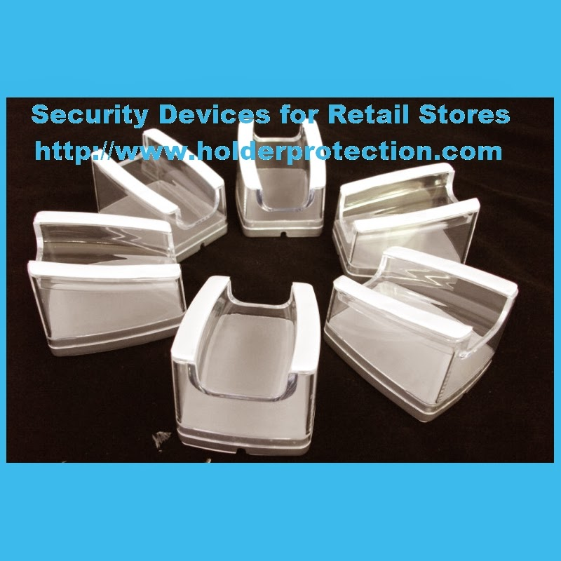Retail display system acrylic stand holder security