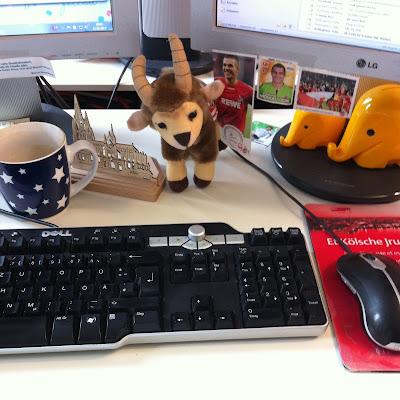 On my desk