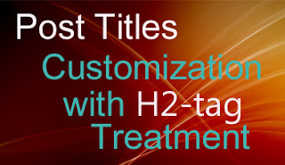 customize post titles using h2 tag