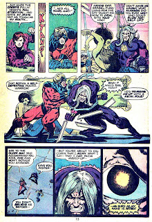 Captain Marvel #34 marvel 1970s bronze age comic book page art by Jim Starlin