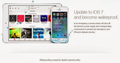 ios 7 waterproof iphone damage ad
