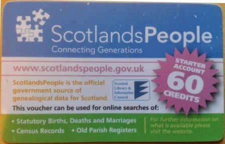 Photo of a Scotland's People card