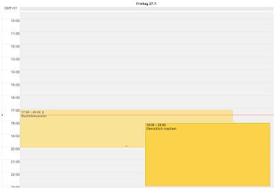 Screenshot einer Ansicht des Google Kalender